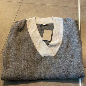 Anthropologie grey moth sweater L brand new w/tag